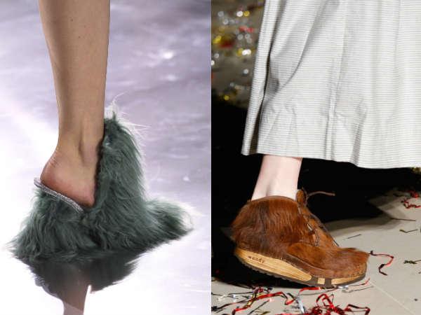 Fur footwear Fall-Winter 2016-2016