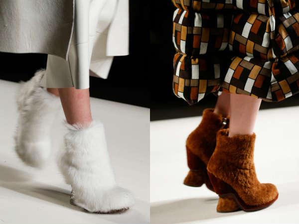 Ladies footwear fall 2016 fur