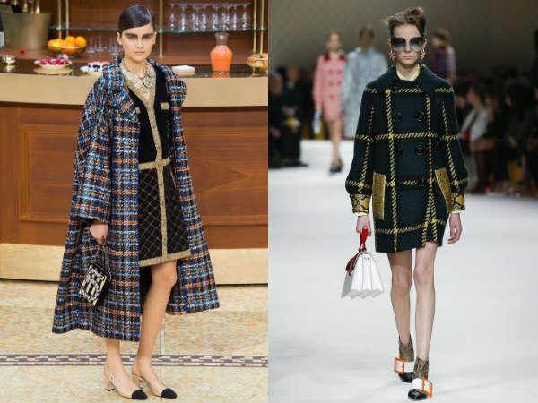 Checked coats Fall-Winter 2016 2017