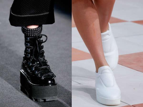 Wedge footwear trendy this season