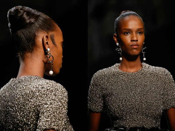 Metallic spiral earrings