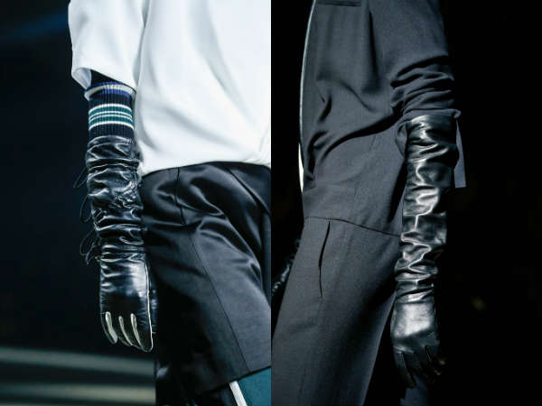 Are black leather gloves in style