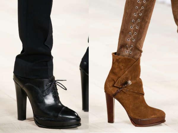 genuine leather high heel