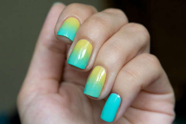 ombre long nails