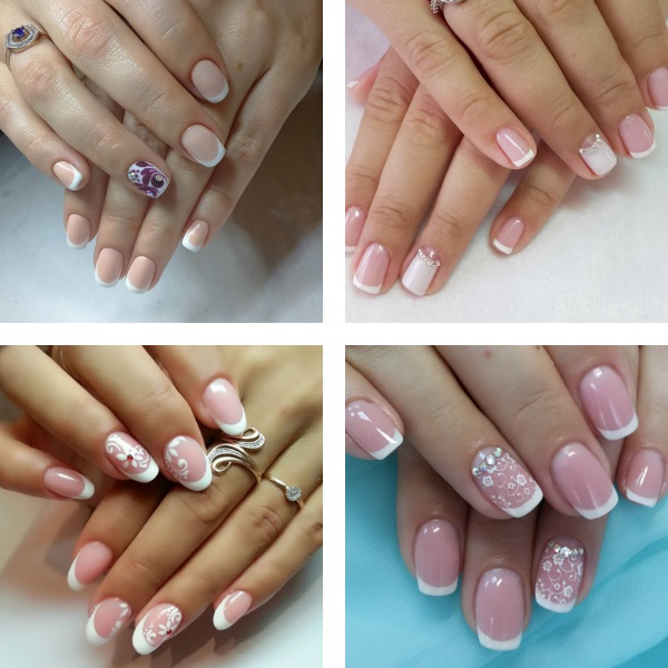 French wedding nails 2017