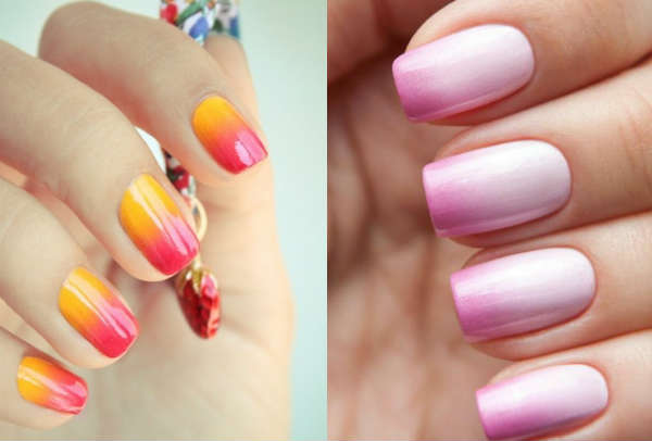 ombre nail designs fall