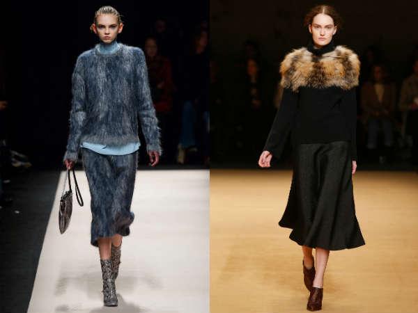 Fur sweaters for women Fall-Winter 2016 2017