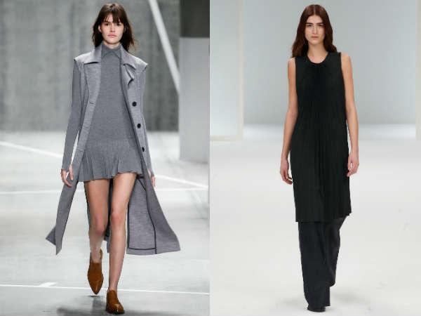 casual dresses made of pleated fabrics