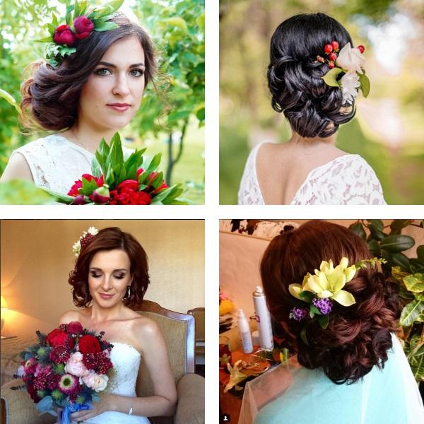 Wedding hairstyles 2017 flowers in accessories