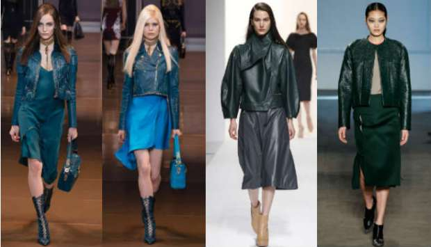 What to wear with colored leather jackets
