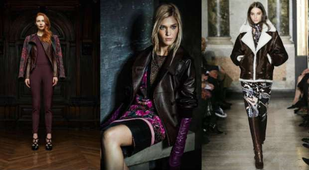 Ladies brown leather jakets