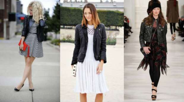 How to wear biker leather jacket with tunics