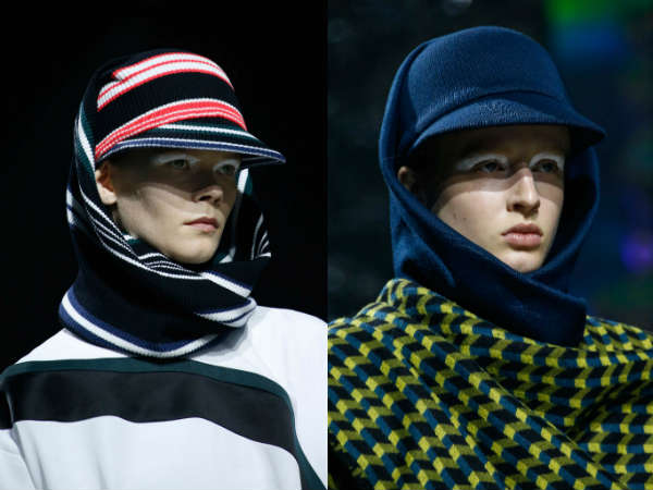 Knitted with visor