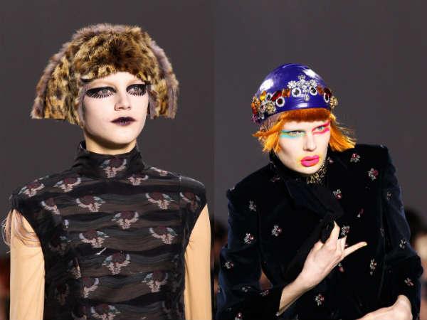 Headwear in futurist style