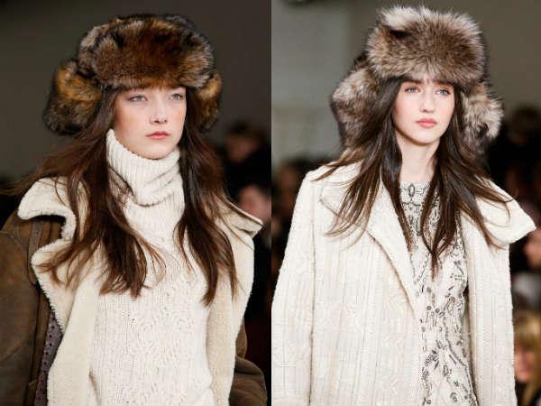 Fur womens trapper hats