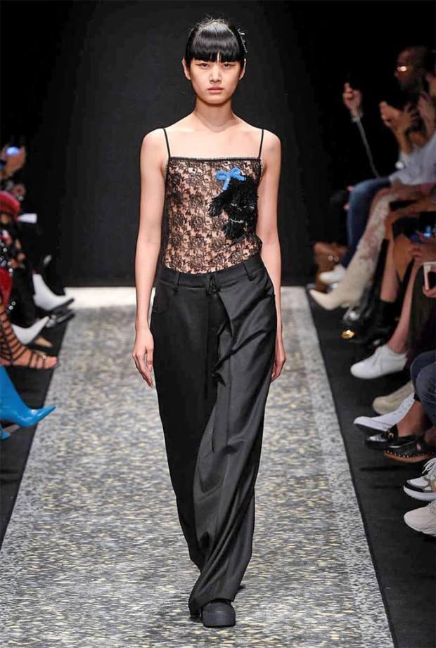 Wide leg pants spring summer 2020 black color