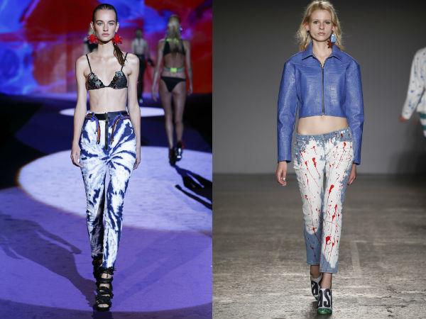 Trendy printed jeans