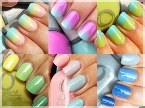 Bright color manicure spring summer 2017