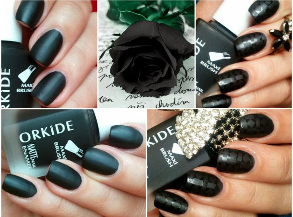 Nails with matte and glossy coating