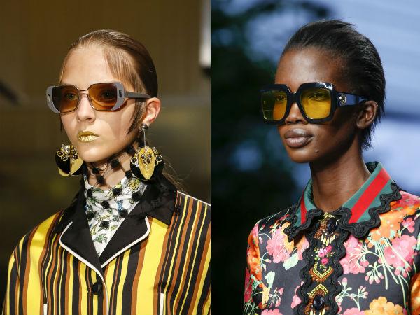 Sunglasses for women spring-summer 2017: colored frame
