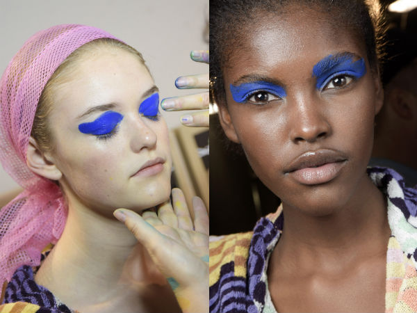 evening blue eyeshadows