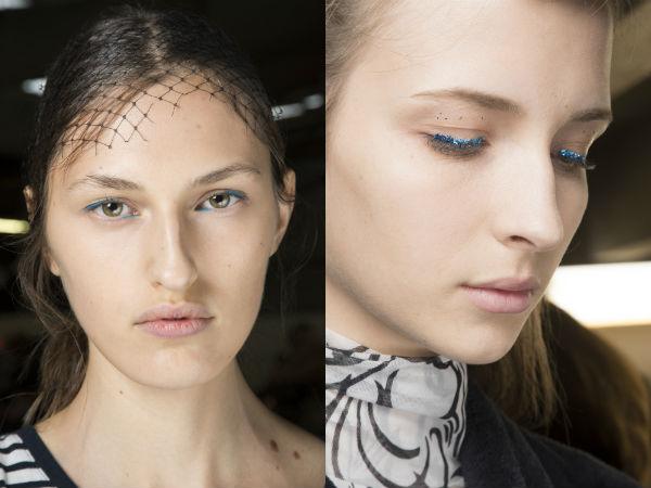 Makeup trends 2017 blue eyeliner