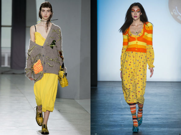 Trendy yellow color spring summer 2017