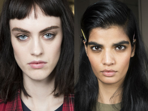What are the current eyebrows shapes in 2017