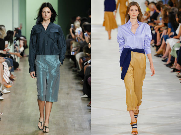 Spring Summer 2017 blouses: colors