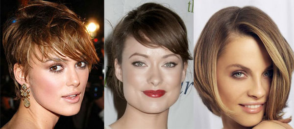 Short haired celebrities with square face