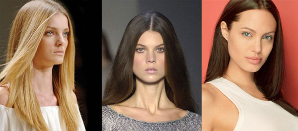 hairstyle for square face shape long hair