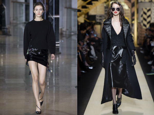 fashion length black leather fall winter 2017 2018