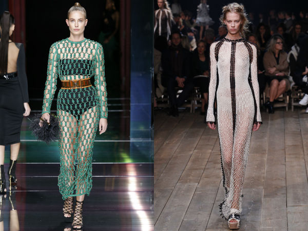 Long mesh summer dresses