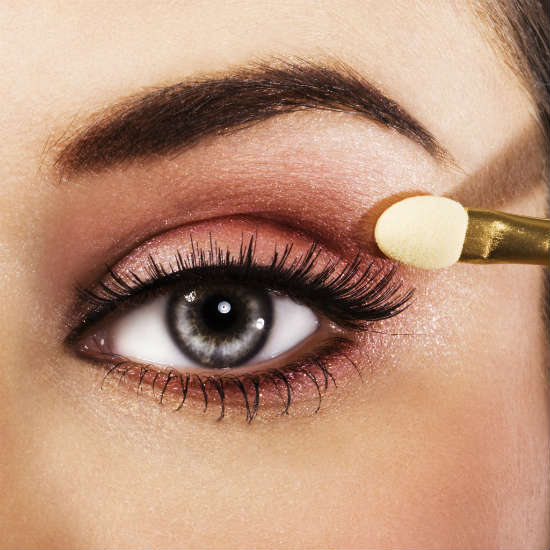 Brown eyeshadows for gray eyes makeup