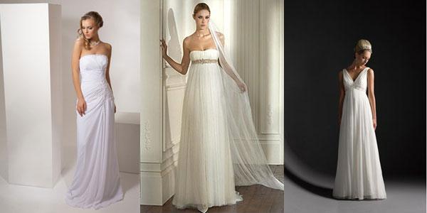 Long Empire wedding dresses