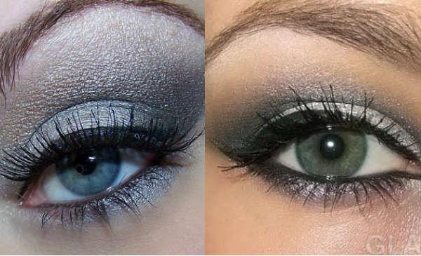Eyeshadows for gray eyes