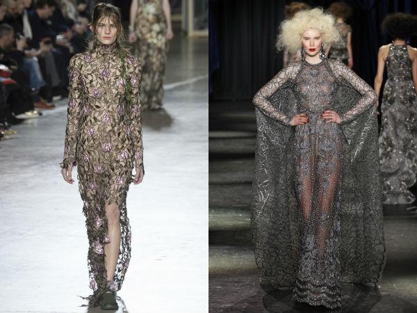 Transparent evening dresses Fall Winter 2017 2018