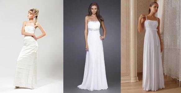 Long straight wedding dresses