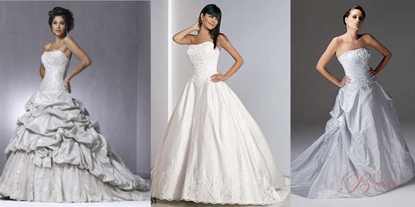 Long ball gown wedding dress