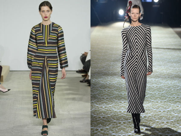 Striped office dresses