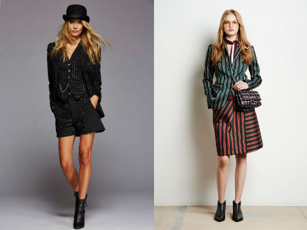 Fashion blazer and skirt