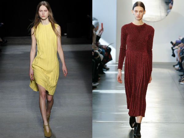 Casual pleated dresses