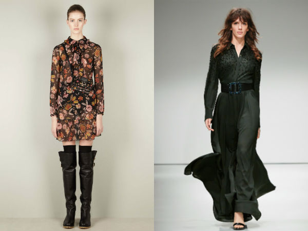 Winter 2018 casual dresses with collar