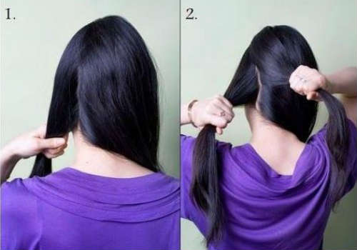 Step by step side ponytail