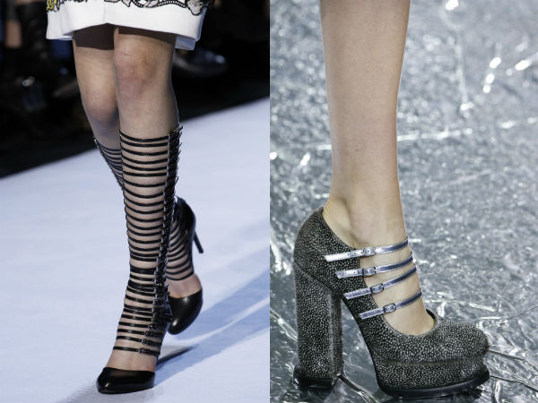 chigh heeled and straps