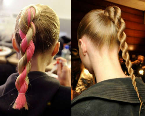 Easy hairstyles for long hair rope braid ponytail