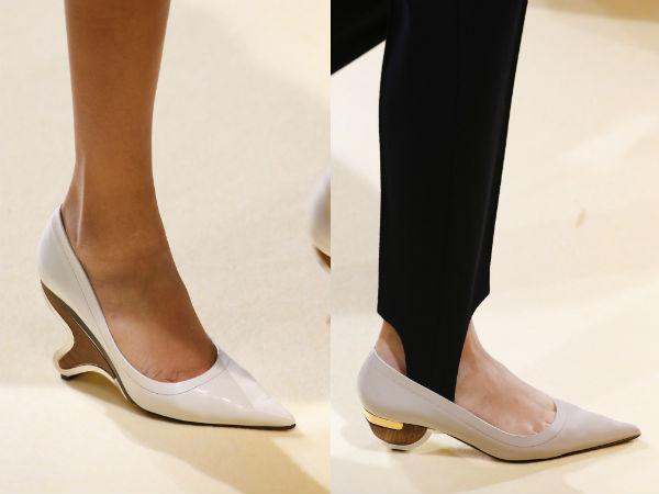 women elegant with low heel