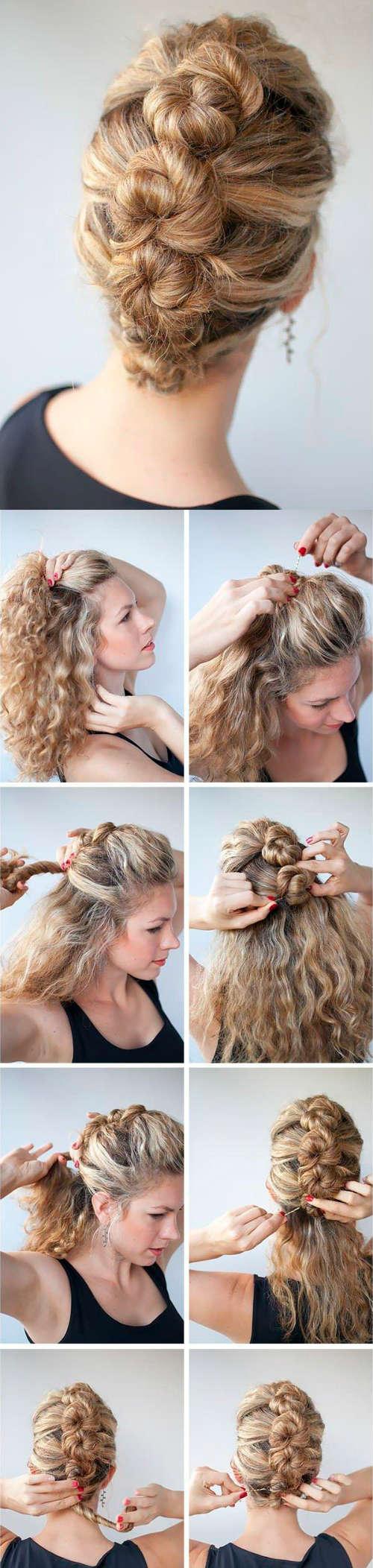 Festive easy hairstyles for medium length hair