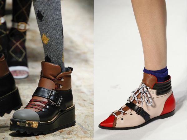 Women's flat sole footwear