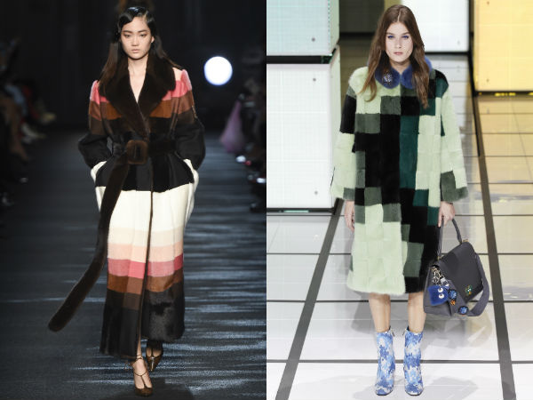 Long coats with prints